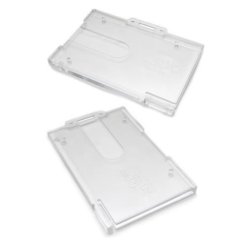 Badge Buddy Enclosed Plastic Card Holder - Fits 2 Cards
