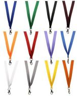 Plain Lanyards - 15mm Wide - Metal Trigger Clip (Packs of 100)