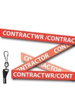 Red Contractor Welsh/English Bilingual Lanyards - Metal Clip (Packs of 10)