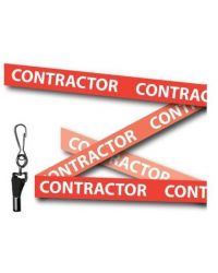 Red Contractor Printed Lanyards - Metal Clip (Packs of 10)
