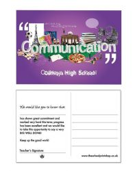Communications Praise Postcards - Pack of 150
