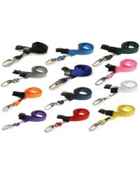 Plain Lanyards 10mm Wide & Metal Lobster Clip - Pack of 100