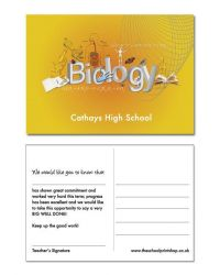 Biology Praise Postcards - Pack of 150