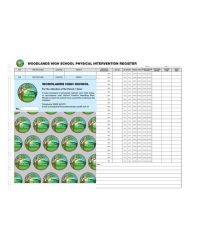 School Physical Restraint Kit with Board (500 Slips per pack)