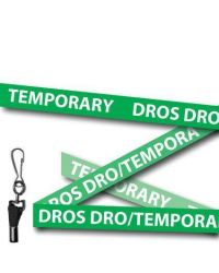 Green Temporary Welsh/English Bilingual Lanyards - Metal Clip (Packs of 10)