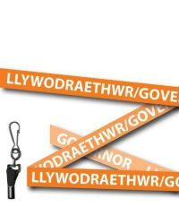 Orange Governor Welsh/English Bilingual Lanyards - Metal Clip (Packs of 10)