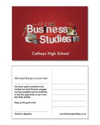 Business Studies Praise Postcards - Pack of 150