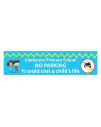 School No Parking Banner - No 1 - 8 x 3 feet