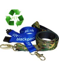 Recycled PET Silky Lanyards - Printed Full Colour