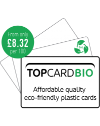 TopCard Biodegradable Blank White Plastic Cards 760 Micron Size - Pack of 100