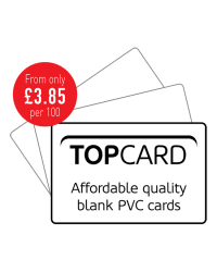 TopCard Blank White PVC Cards - Pack of 100