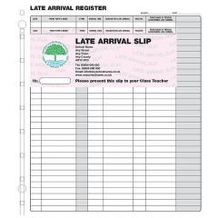 Personalised Latecomer Registration Slips - Refills