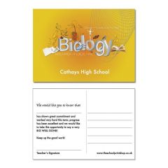 Biology Praise Postcards