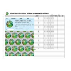 School Physical Restraint Slips - Refills (500 Slips per pack)