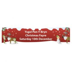 Christmas Fayre School Banner No 4  - 6 x 2 feet