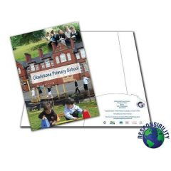 School Folders Printed one side & Laminated - self assembly