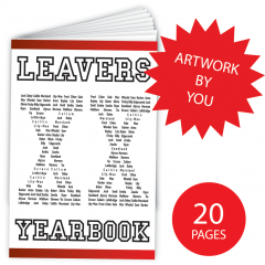 Leavers' Year Books - 20 pages